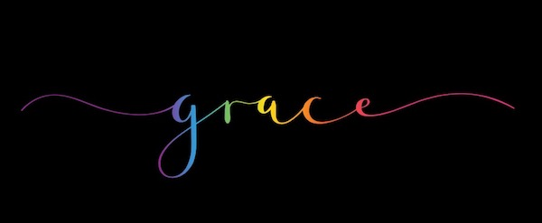 The word grace in colored letters on a black background for Resiliencetree.com