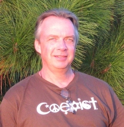 Picture of Jim with a coexist tee shirt